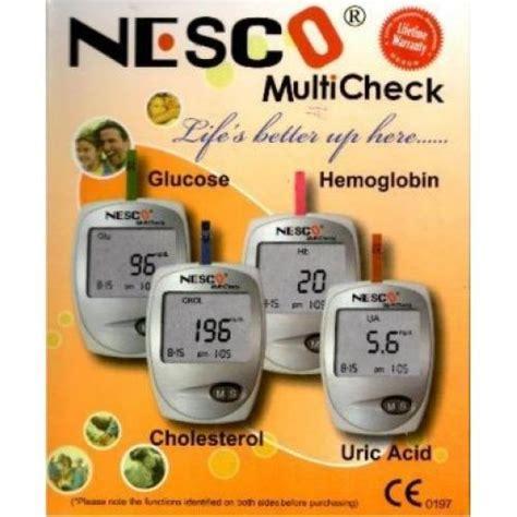 Alat Tes Gula Darah Asam Urat Kolesterol jual alat cek darah 3 in 1 gula darah kolesterol asam urat