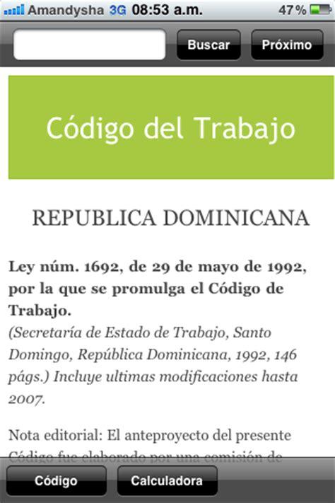 as es el nuevo clculo de las prestaciones sociales el c 243 digo laboral dominicano llega como una aplicaci 243 n a