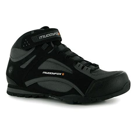muddyfox mens tour 100 mid cycling shoes laced front