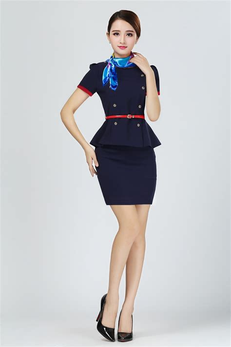 hostess costume air line airline stewardess dress airline staff buy hostess