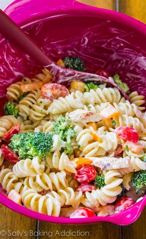 the best creamy chicken pasta salad creamy chicken pasta salad sallys baking addiction
