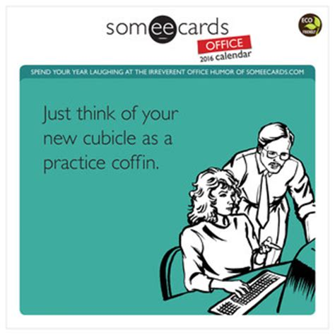 someecards 2016 desk calendar someecards office 12 month 2016 wall calendar contemporary desk accessories by zulily