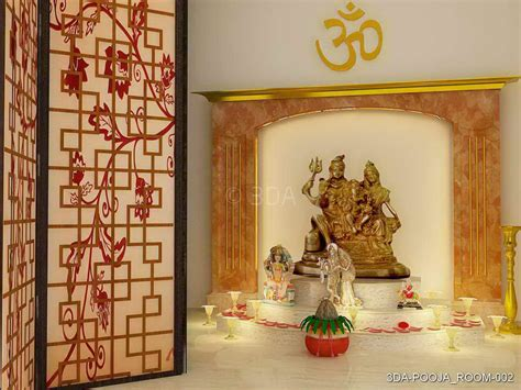 Interior Design Mandir Home by 3da Best Pooja Room Interior Decorators In Delhi And