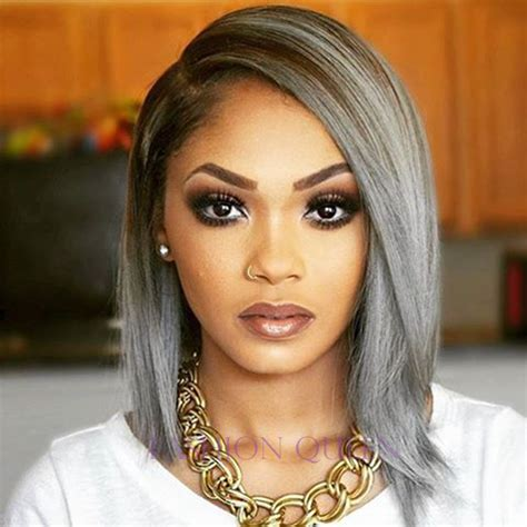 hair color grey in front image result for grey ombre hair dark skin hair cut