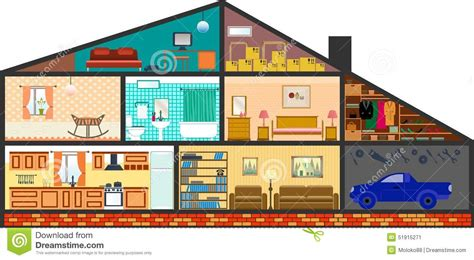 5 Bedroom 4 Bathroom House Plans by Cartoon Family House Stock Vector Illustration Of