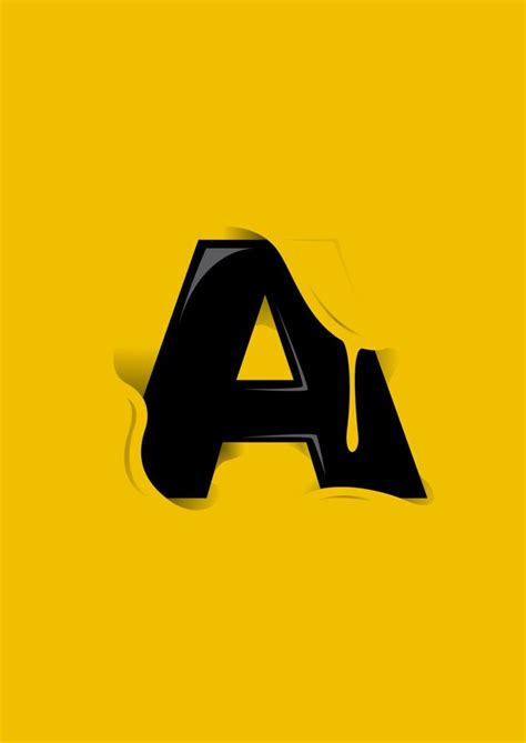 letter a design graphic pt 1 on inspirationde