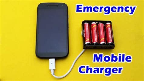 how to a mobile phone how to make an emergency mobile phone charger using aa