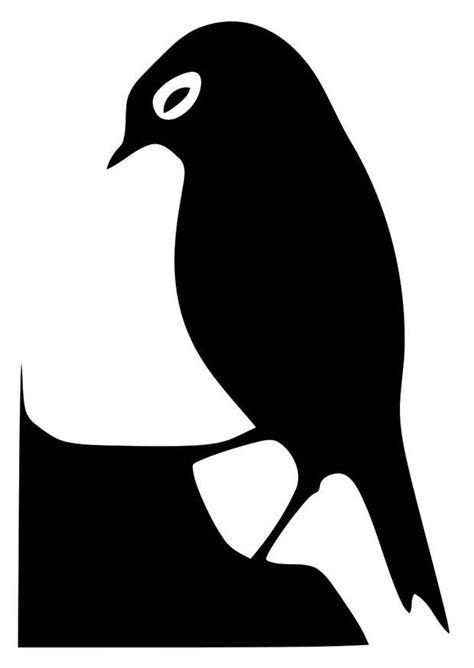 Dibujo para colorear silueta de pájaro - Img 20690