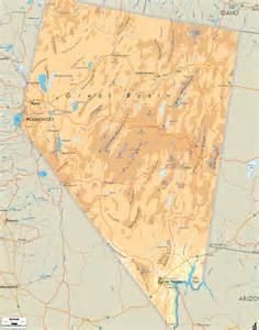 us map states nevada physical map of nevada ezilon map