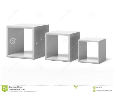 three white box shelves royalty free stock photos image