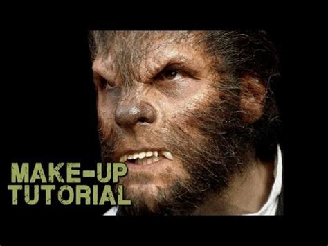 werewolf prosthetic tutorial werewolf transformation makeup how to apply wolfman