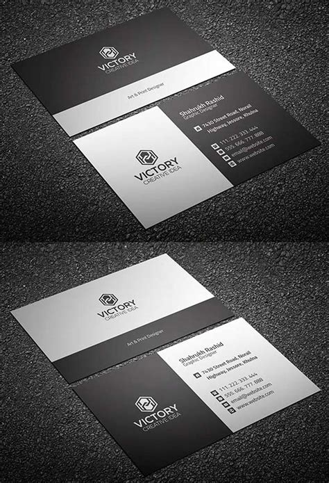 business card template psd isometric 20 free printable templates for business cards