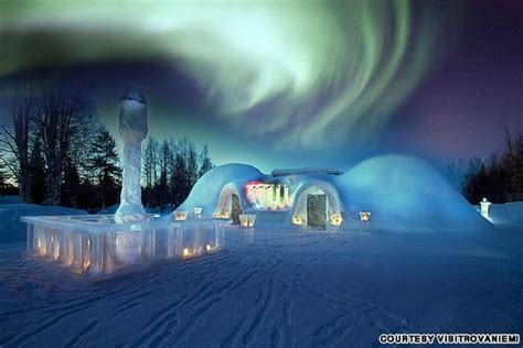 alaska igloo hotel northern lights northern lights lights and hotel on