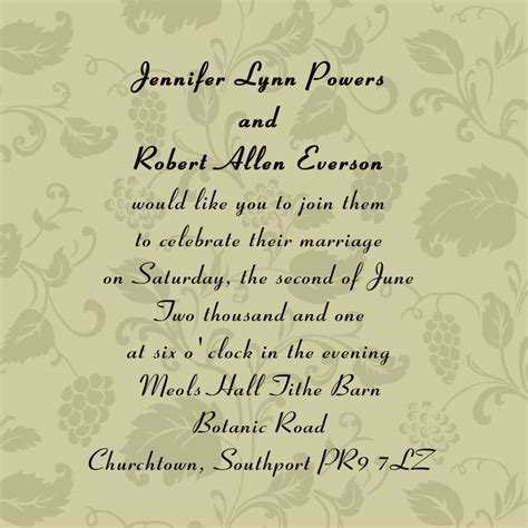 Wedding Invitation Wording For Friends From Bride