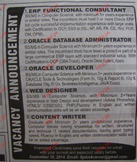 erp functional consultants oracle developers wanted 2018