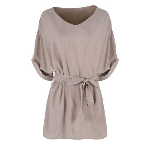 Linen Cotton Blouse fashion womens cotton linen t shirt batwing