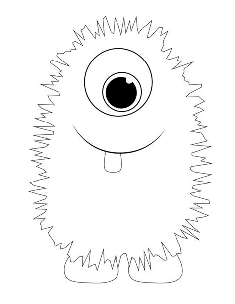 monster printable templates coloring pages