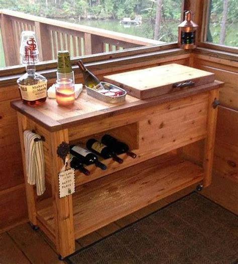 Handmade Bar - rustic cooler wine table outdoor bar rustic