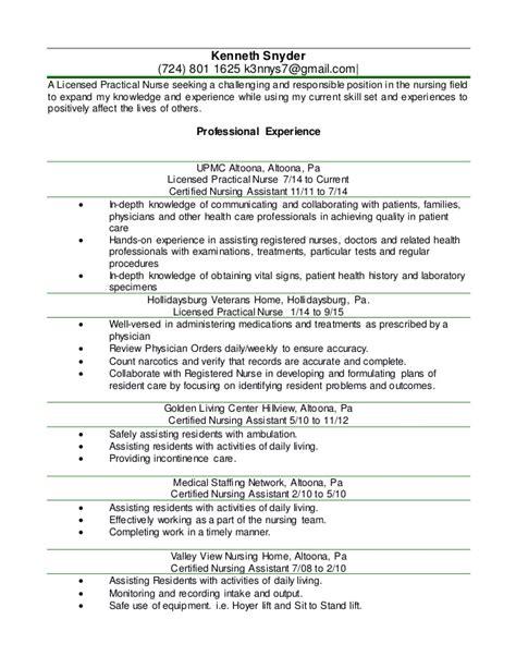 simple free sample resume for lpn example lpn licensed practical