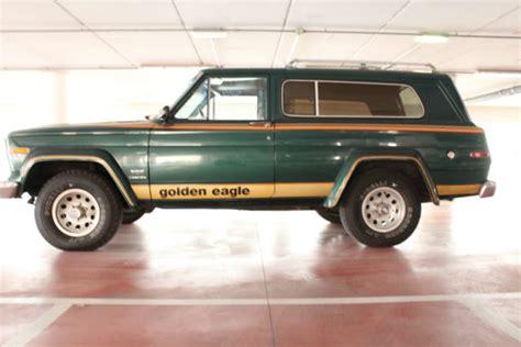jeep cherokee golden eagle cherokee golden eagle 4 2 6 cyl completely original