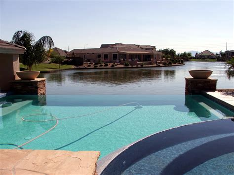 pool backyard phoenix arizona waterfront homes 187 backyard pool and lake
