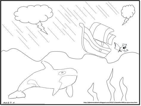 jonas y el gran pez dibujos para colorear iglesia mar abierto estudio b 205 blico para ni 209 os jon 193 s y