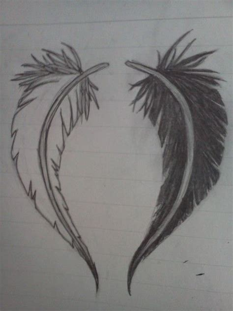 heart feather tattoo designs sad feather design by nighthawk42