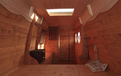 Small Cabin Floor Plan man turns work van into diy motorhome tiny cabin