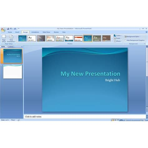 themes for windows 7 microsoft powerpoint how to quickly create a themed presentation in microsoft