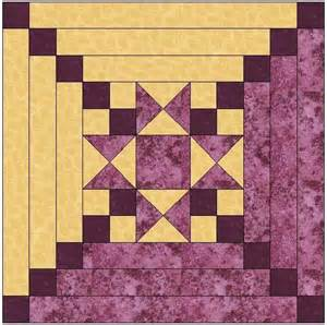 center log cabin quilt block by feverishquilter craftsy