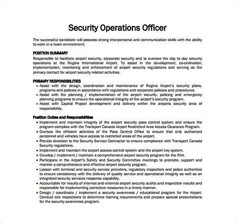 security guard description tips to write your security officer resume
