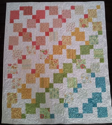 Disappearing 9 Patch Baby Quilt Pattern by Serena Bean Quilts Disappearing Nine Patch Throw Quilt