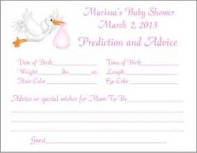 24 stork prediction advice cards baby shower by print4u on etsy
