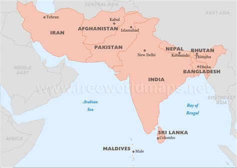 map of south asia political south asia maps