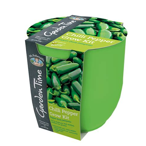 Garden Time Range Green Jalapeno Chilli Grow Kit From Vegetable Garden Seed Kits