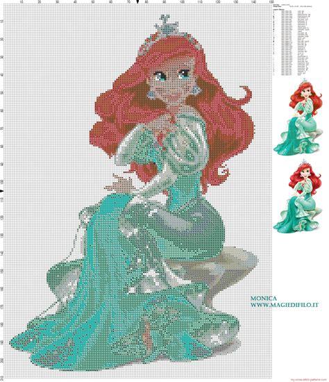 Free Stitching princess ariel cross stitch pattern 2840x3300 4435382 cross stitch ariel
