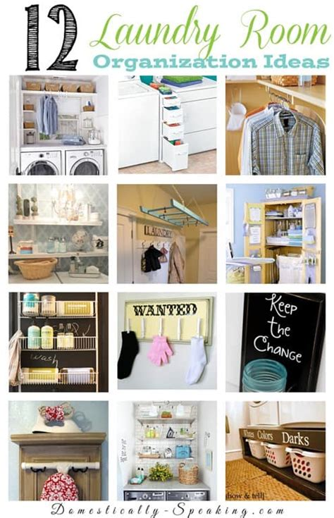 12 Laundry Room Organization Ideas Domestically Speaking Ideas To Organize Room