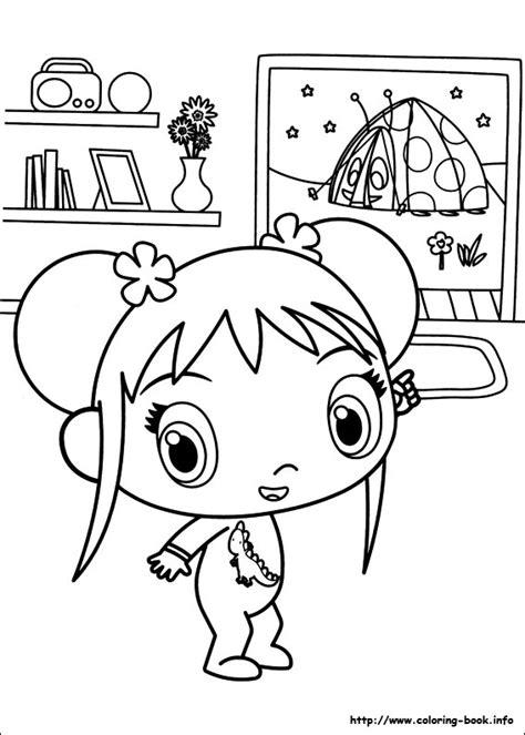 ni hao kai lan coloring picture