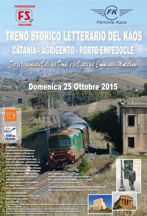 Kaos La Velocita treno storico letterario kaos catania ct 2015