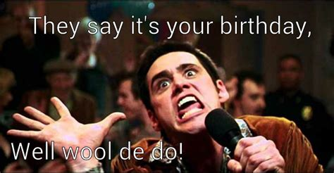 very funny happy birthday meme of jim carrey image picsmine