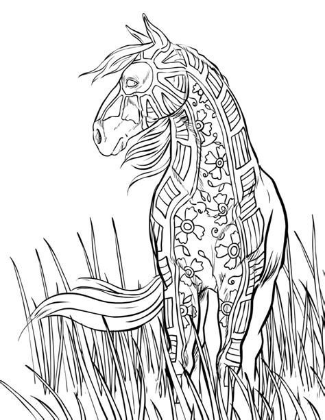 coloring pages of horses for adults abstract coloring pages for adults coloring pages