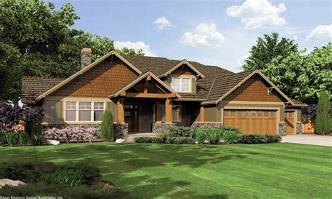 Floor Plans For Single Level Homes by Craftsman Elevations Single Story Single Story Craftsman