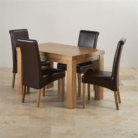Chunky Dining Table And Chairs Chunky Solid Oak Dining Set In Oak 4ft Table 4 Chairs