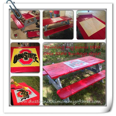 do it yourself picnic table do it yourself ohio state buckeye picnic table diy