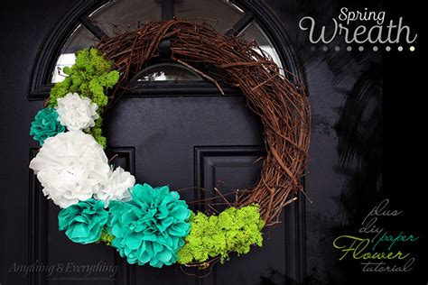 How To Make A Tissue Paper Wreath - easy wreath diy tissue paper flower