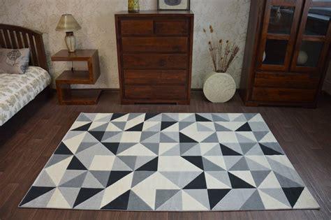 teppich dreiecke modern teppich canvas scandi balta flachflor dicht