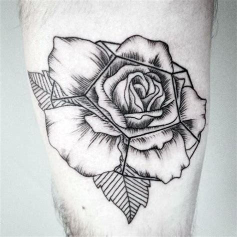 detailed rose tattoo designs 40 geometric designs for flower ink ideas