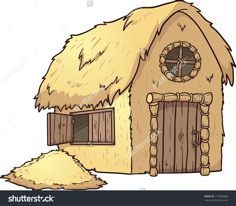 straw house straw hut clipart clipground