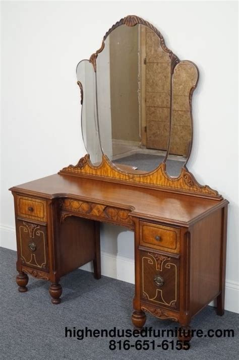 Ornate Vanity Table 1920 S Walnut Revival Jacobean Ornate Dressing Table Vanity Dressing Table Vanity