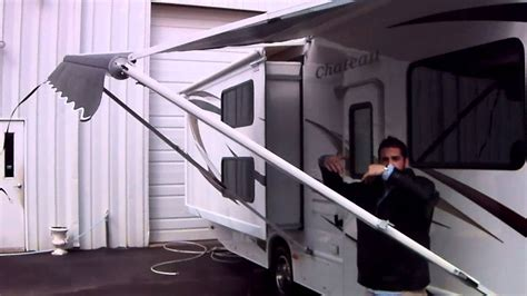 travel trailer awnings awning how to operate rv travel trailer or motor